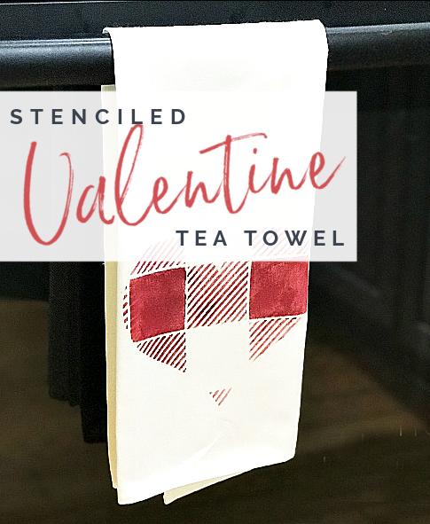 tea towel with overlay