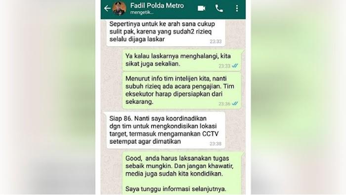 Viral Percakapan Kapolda Metro Tentang Rencana Pembunuhan Ha6ib Ri2ieq, Polisi: Itu Hoaks