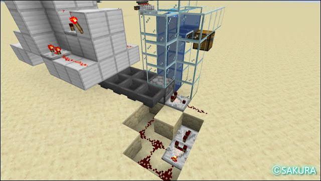 マインクラフト 水流式アイテムエレベーター