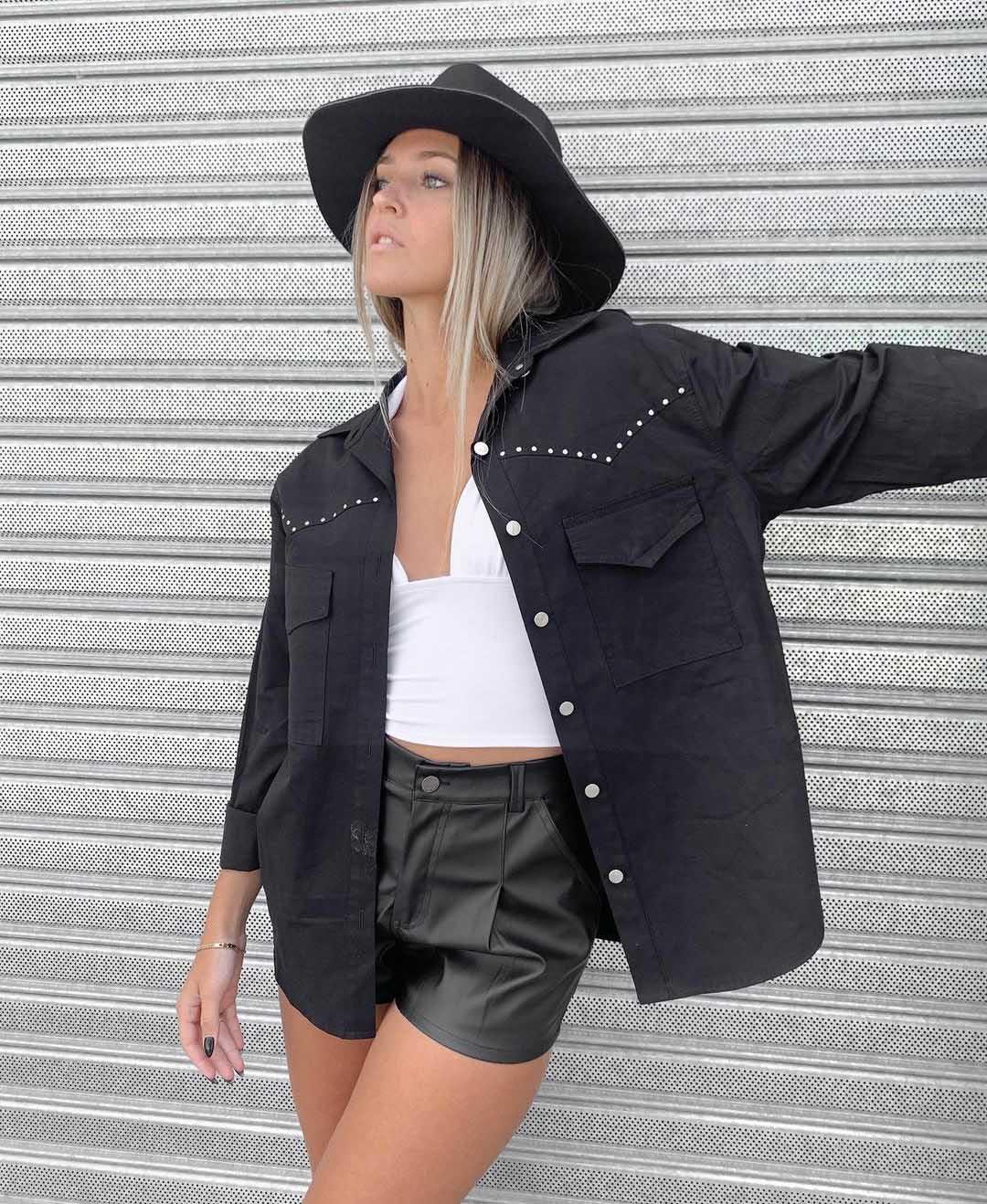 minishort engomado moda mujer invierno 2021