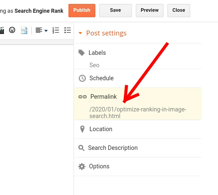 How to Optimize and rank in Google Image Search: The page permalink