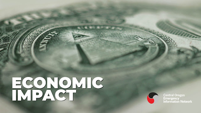 graphic of an image of a dollar bill with the text economic impact and the COEIN logo