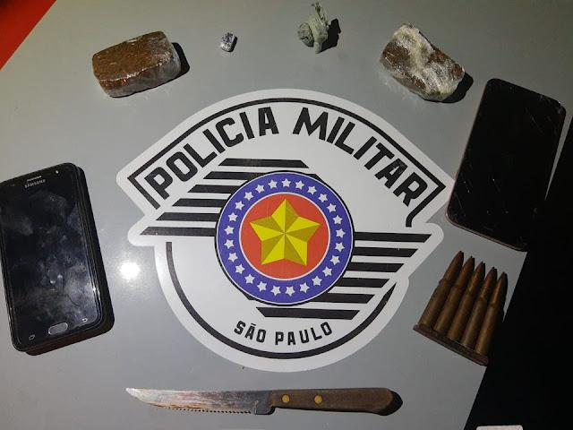 Policia Militar Prende Individou Por Tráfico De Drogas Em Lucélia E Evita Homicidio.