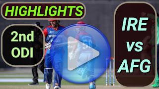 IRE vs AFG 2nd ODI 2021