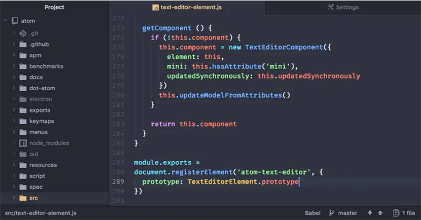 Aplikasi Untuk Coding Terbaik - Atom