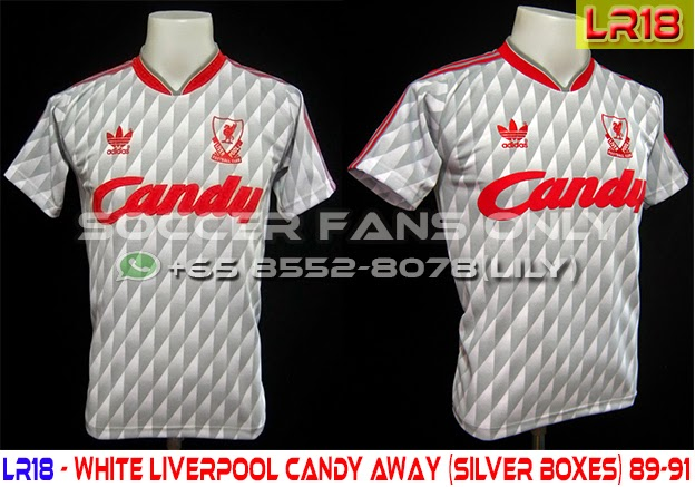watch 7366f 47f5b LFC Retro SG: White Liverpool Candy Away (Silver Boxes) 89-91