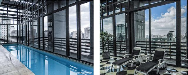 Terraço e piscina do Hotel Radisson Blu São Paulo