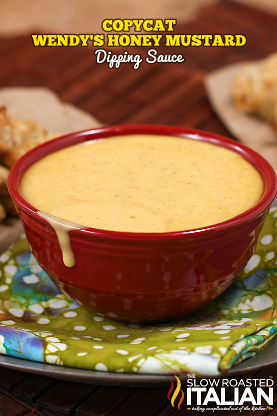titled photo:Copycat Wendy's sauces - honey mustard dipping sauce