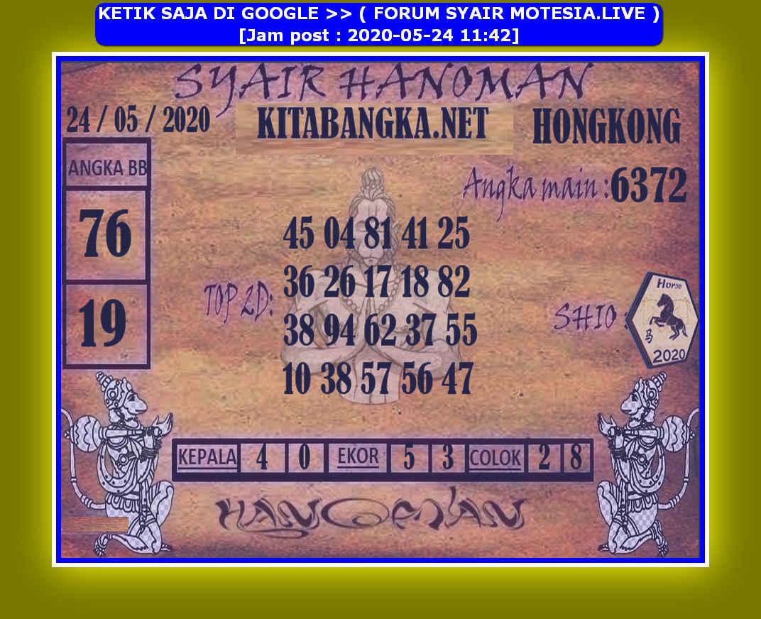 Kode syair Hongkong Minggu 24 Mei 2020 189