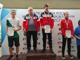 trener Jerzy Wolnik i Kamil Fabisiak ZKS Gwardia