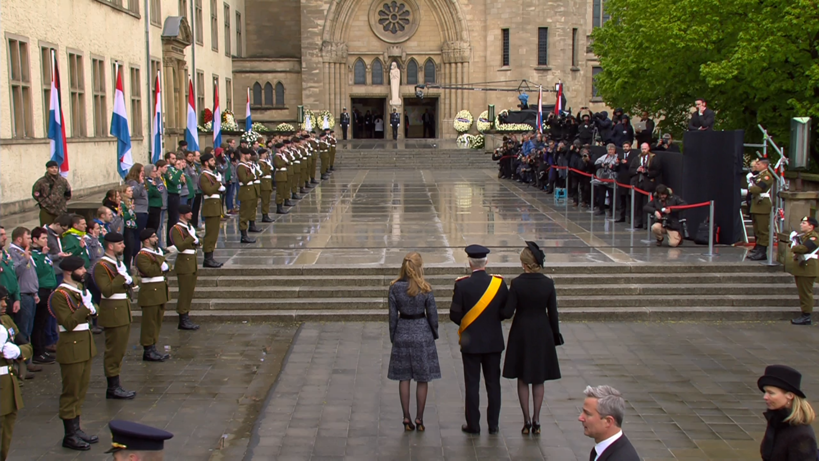 queen mathilde  funeral  grand duke jean of luxembourg