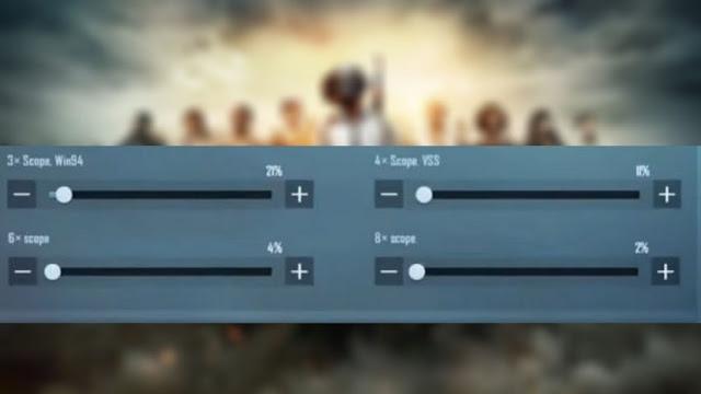 Setting Sensitivitas Pro Player pubg