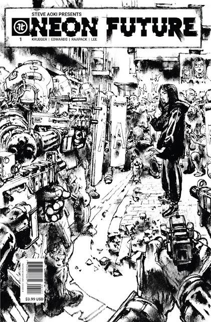 """""""Neon Future"""" núm 1 de Jim Krueger, Tom Bilyeu y Steve Aoki."""