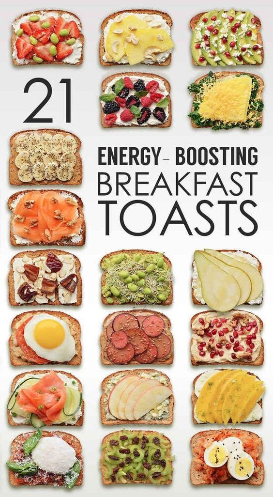 21 Breakfast toasts for energy boosting #Article