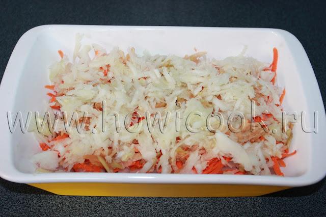 запеканка с курицей и овощами с пошаговыми фото
