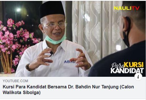 Kursi Para Kandidat,Wawancara Eksklusif Dr.H.Bahdin Nur Tanjung,SE.MM Di Nauli TV