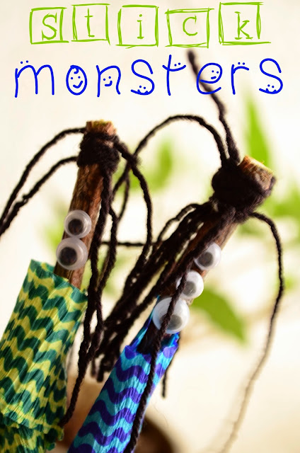 The Practical Mom: Kids Activity: Stick Monsters