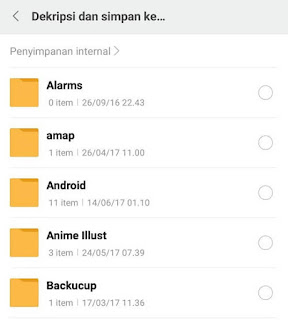 Folder pada File Manager Xiaomi
