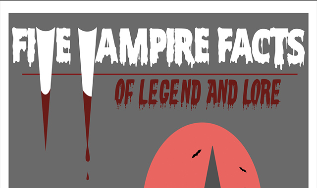 Five Facts: Vampires and their Alluring History #infographic