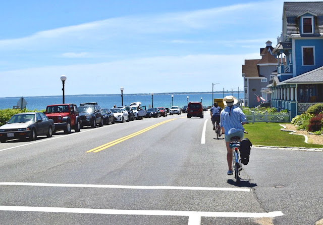 Biking from Oaks Bluff to Edgartown - start of the bike path