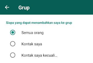 cara menolak undangan grup di whatsapp wa