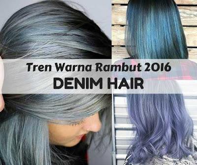 warna rambut 2016 denim hair ombre_98002547