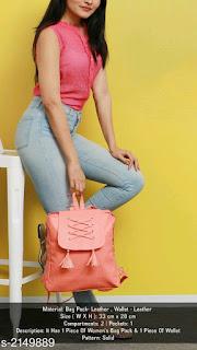 Trendy Women's Leather Bag Packs & Wallet Combo