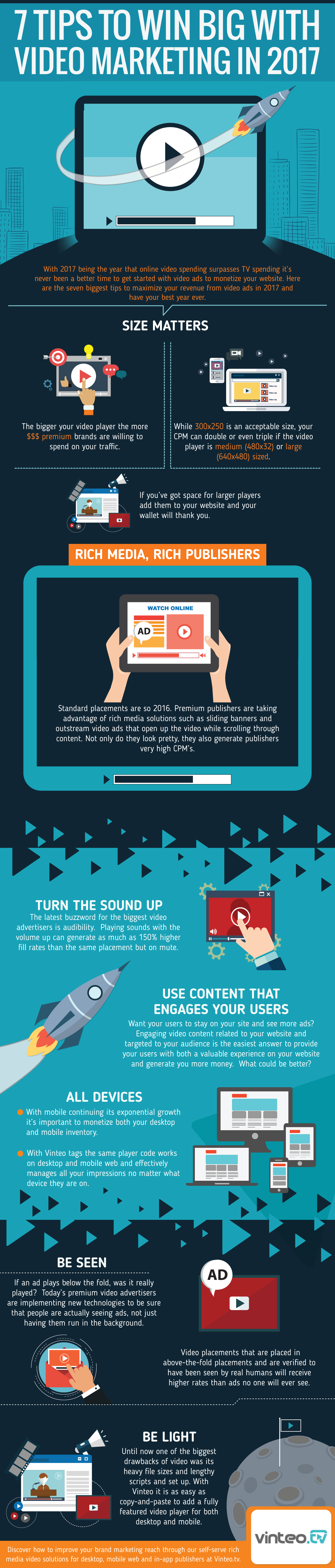 7 Tips to Win Big with Video Marketing in 2017 - #infographic