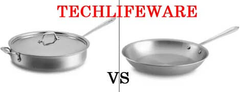 What's the difference between a saute pan vs skillet