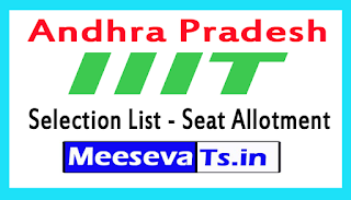 AP IIIT Selection List 2017 AP IIIT Seat Allotment List