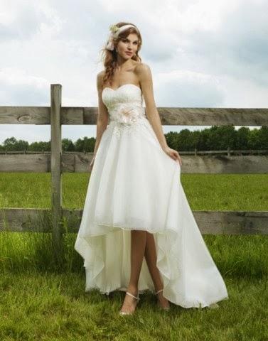 4d0a852773 4 pomysły na  Krótką suknię ślubną z trenem!