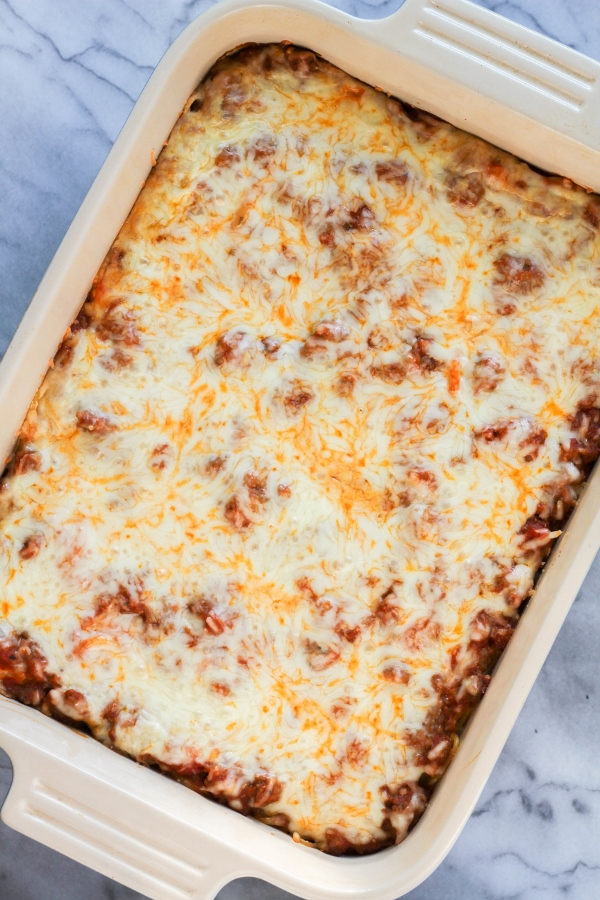 Sausage and Spaghetti Bake | The Chef Next Door