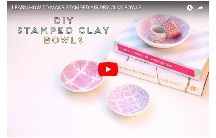 LEARN HOW TO MAKE STAMPED CLAY BOWLS - VIDEO TUTORIAL.