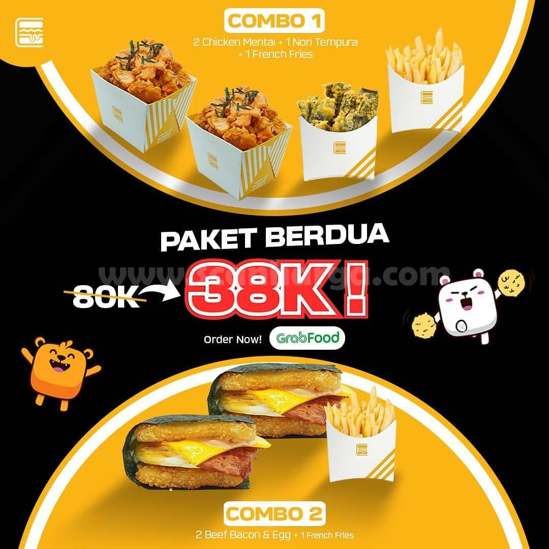 Burgushi Promo Paket Berdua cuma Rp 38.000 pesan via Grabfood