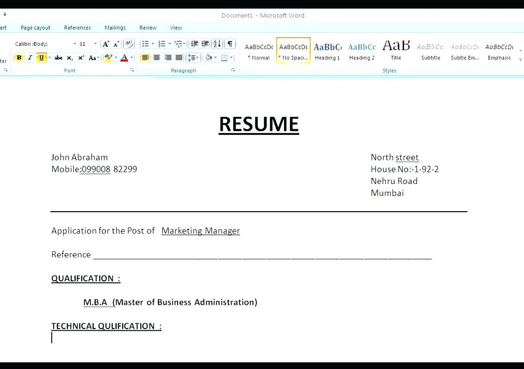 How to Make A Resume 2019 - Lebenslauf Vorlage Site