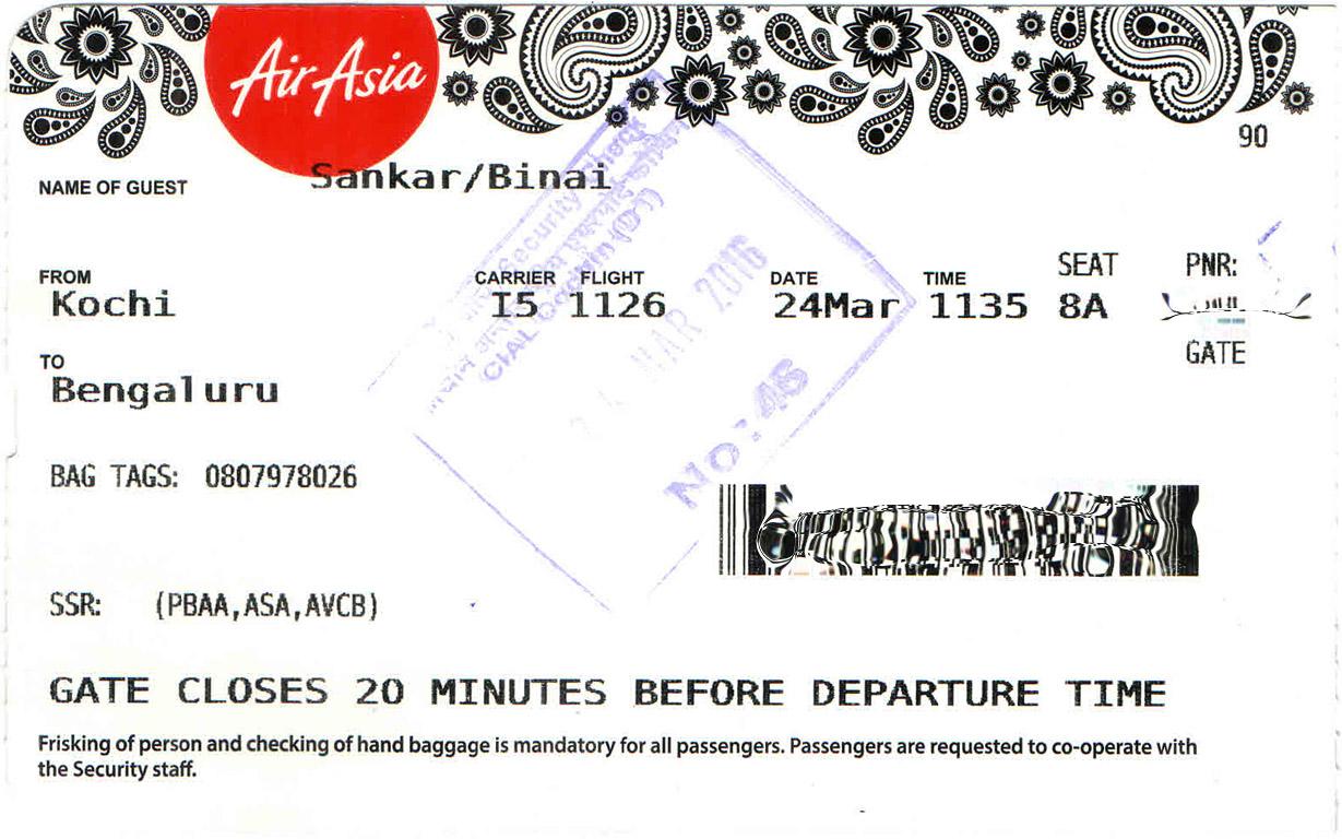 Flying Airasia After Long On I5 1126 Kochi To Bengaluru