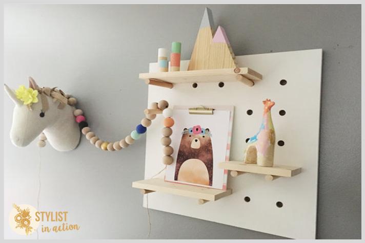 Etsy finds - inspiración para cuartos infantiles pegboard