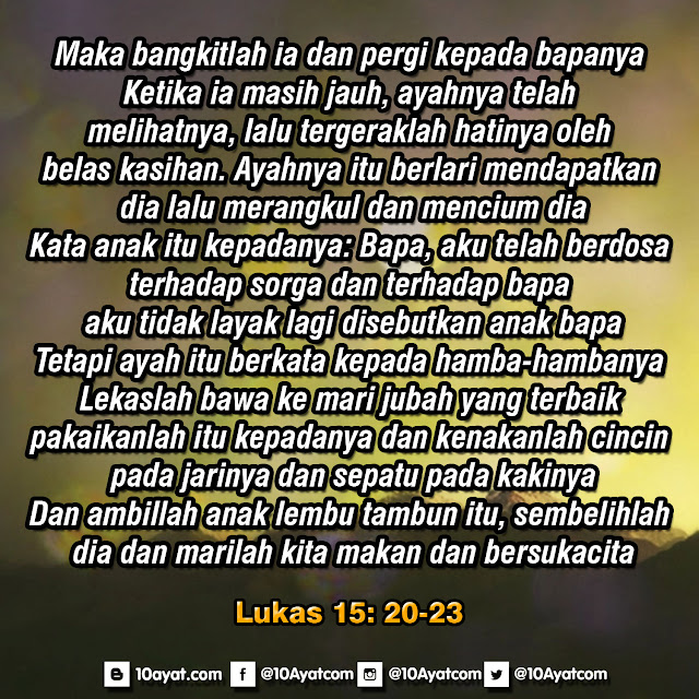 Lukas 15: 20-23