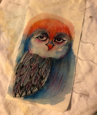 Painted owl