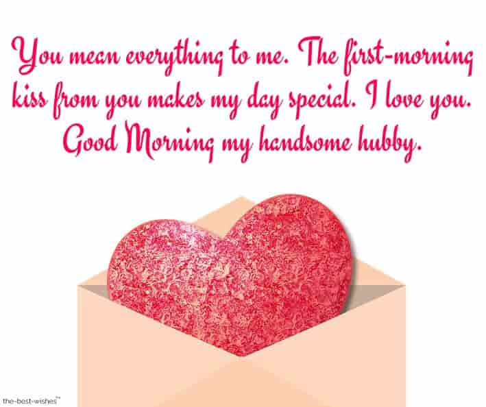 sweet romantic good morning message for husband