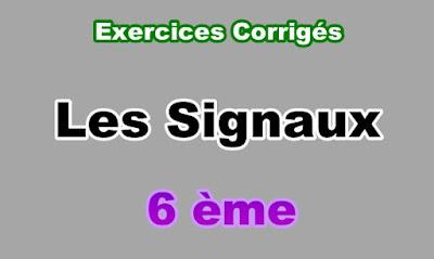 Exercices Corrigés de signaux 6eme en PDF