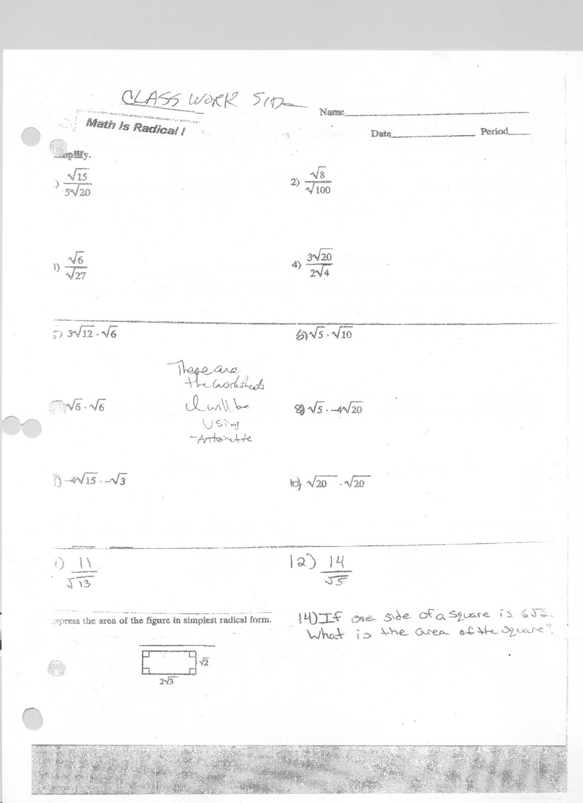 Mr Napoli S Algebra March