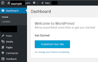 First Step with Wordpress Website - Wordpress Dashboard