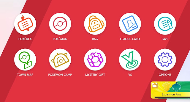 Pokémon Sword Shield Expansion Pass menu advertisement Nintendo eShop