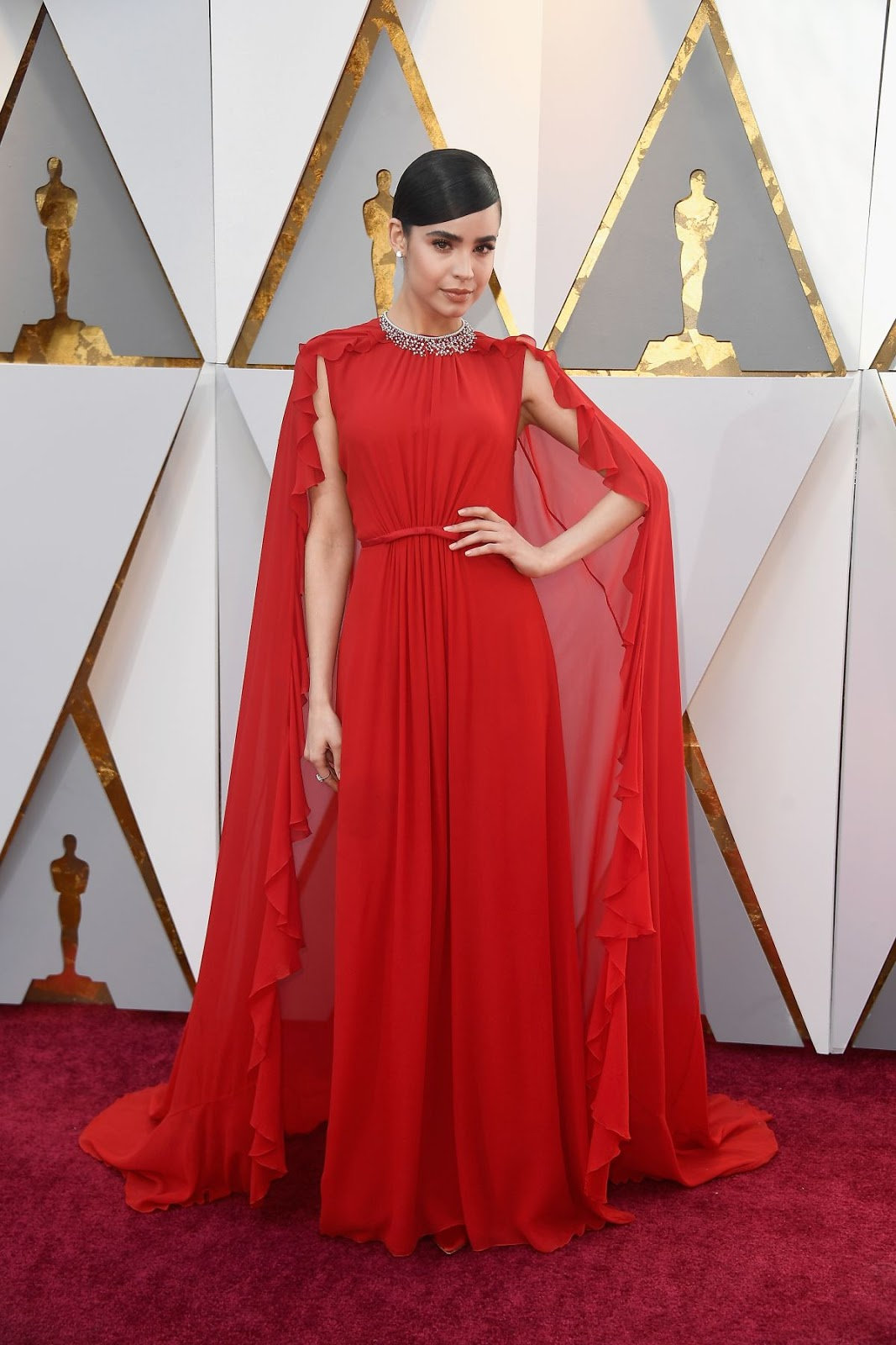 Sofia Carson at Oscars 2018 in Los Angeles