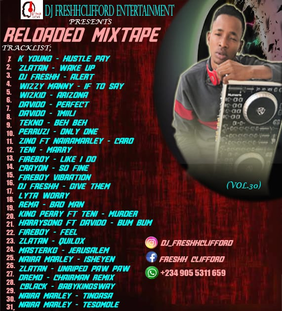 DjFreshhClifford reloaded mixtape vol30