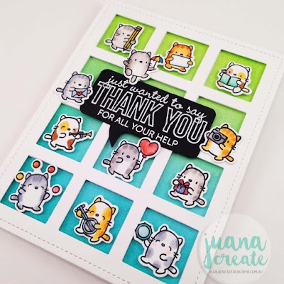 Tully's Little Cat Agenda - Many Thanks Card