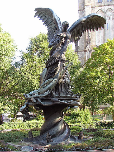 Elephant, Peace Fountain by Greg Wyatt, Cathedral of Saint John the Divine, New York