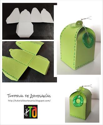 Paso a paso de armado y decoración de caja por Tutorial de Artesania