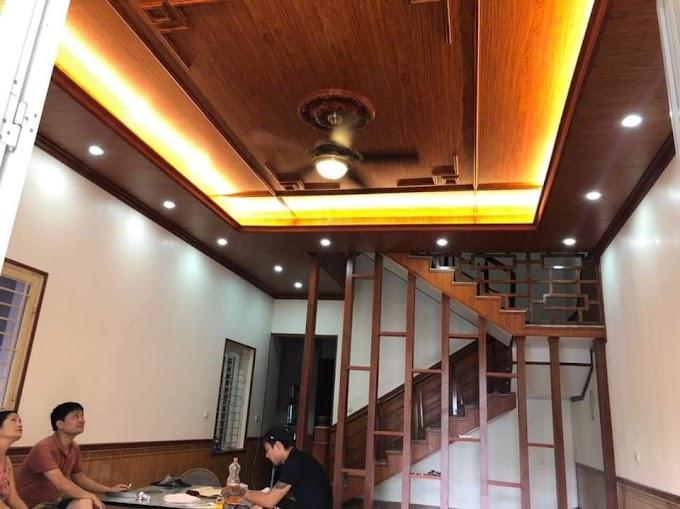 Giá làm trần nhựa Nano pvc Giá bao nhiêu tiền 1m2, Tấm ốp trần nhà giả gỗ cao cấp sang trọng 2021